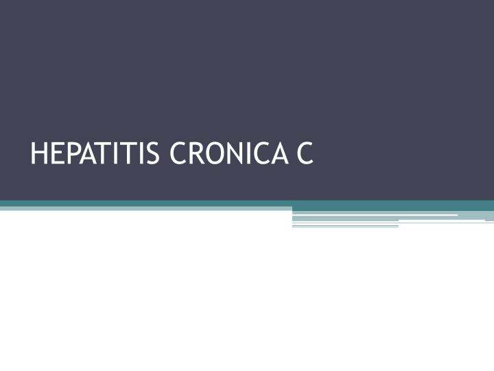 Hepatitis cronica c