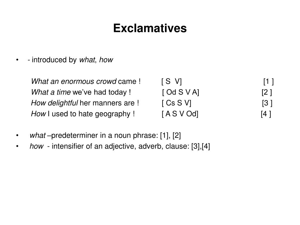 Exclamatives