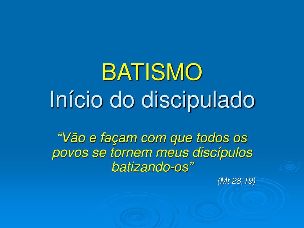 discipulado para batismo