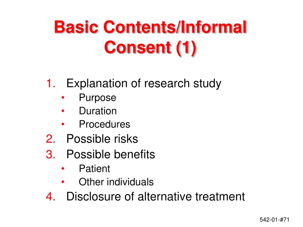 Basic Contents/Informal Consent (1)