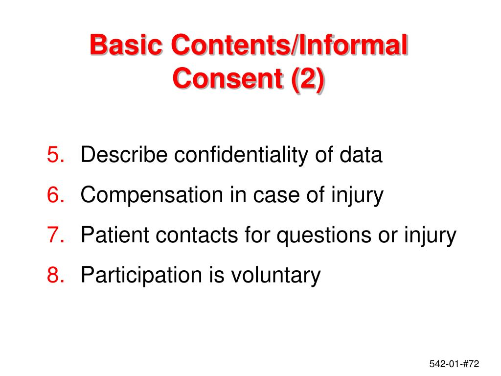 Basic Contents/Informal Consent (2)