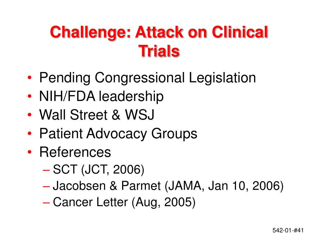 Challenge: Attack on Clinical Trials