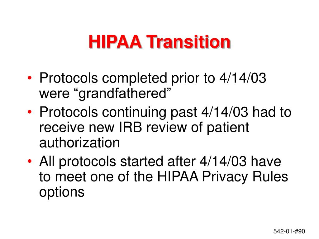 HIPAA Transition