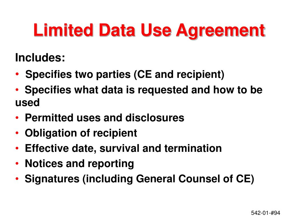 Limited Data Use Agreement