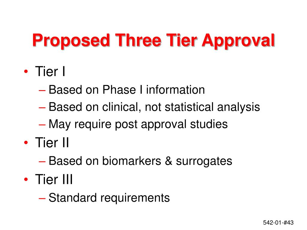 Proposed Three Tier Approval