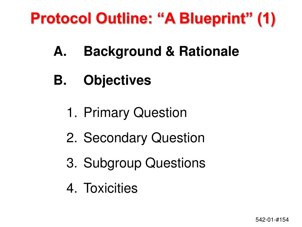 "Protocol Outline: ""A Blueprint"" (1)"