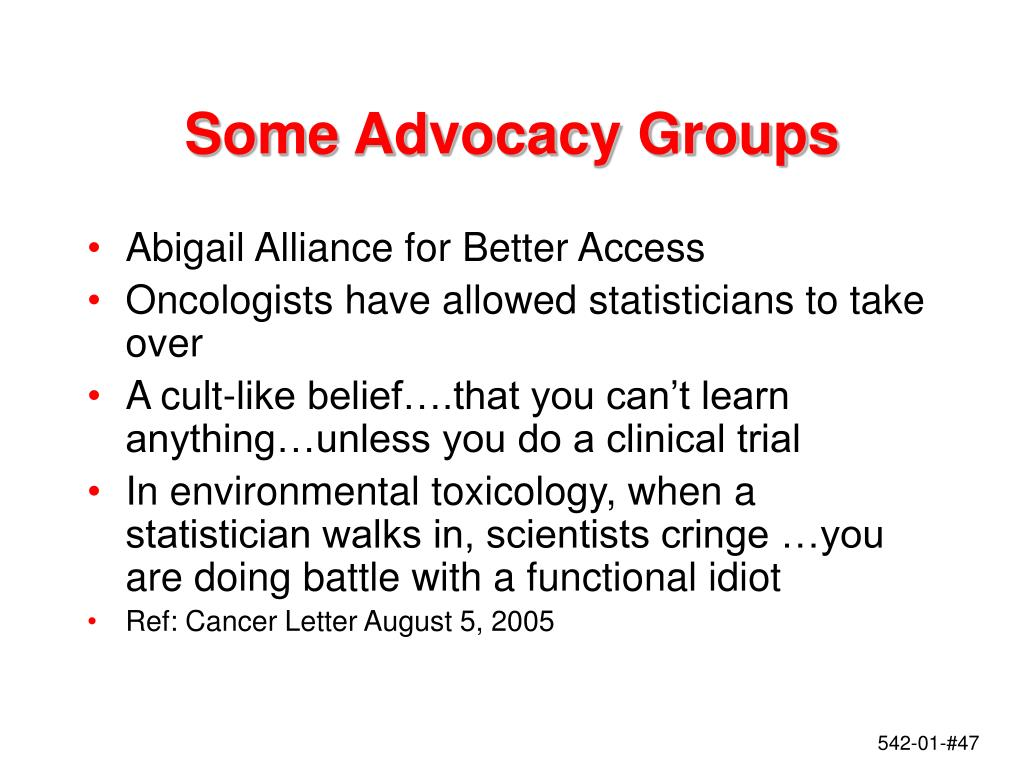 Some Advocacy Groups