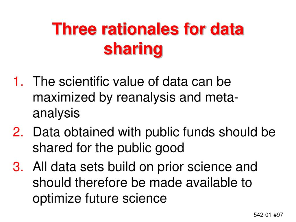 Three rationales for data sharing