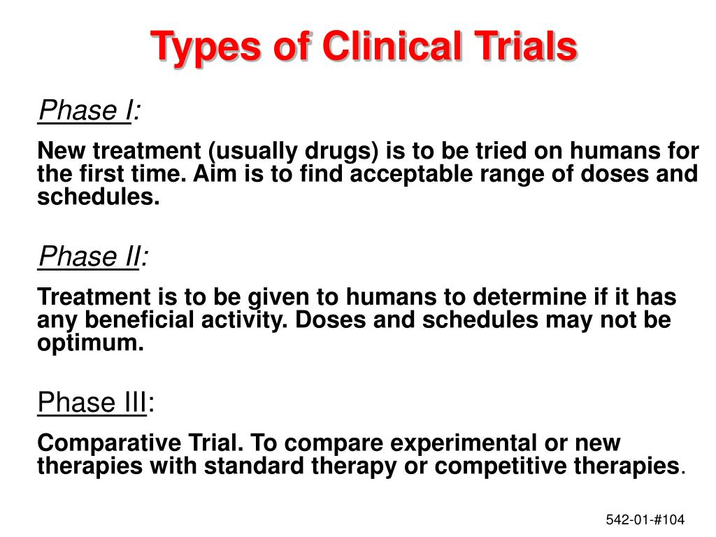 Types of Clinical Trials