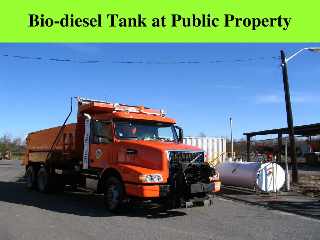 Bio-diesel Tank at Public Property
