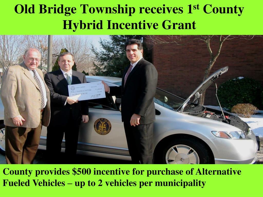 Old Bridge Township receives 1