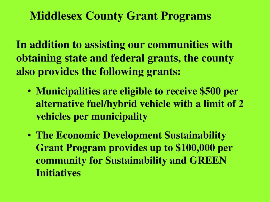 Middlesex County Grant Programs
