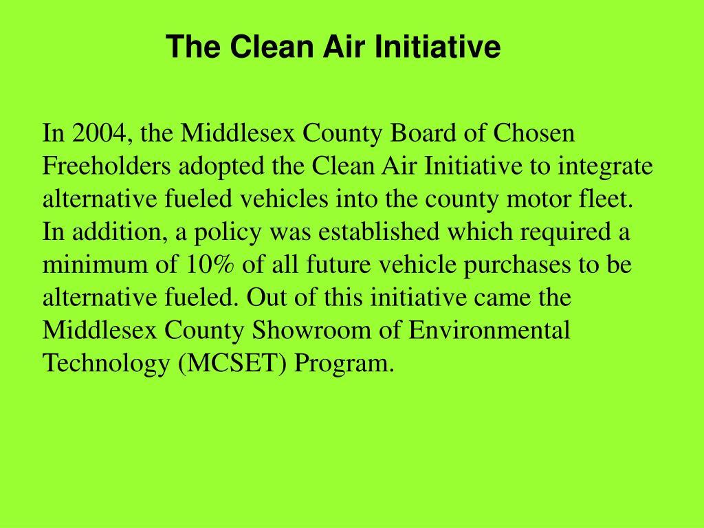 The Clean Air Initiative