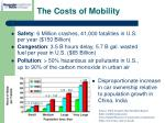the costs of mobility