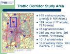traffic corridor study area