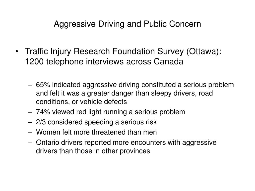 Aggressive Driving and Public Concern
