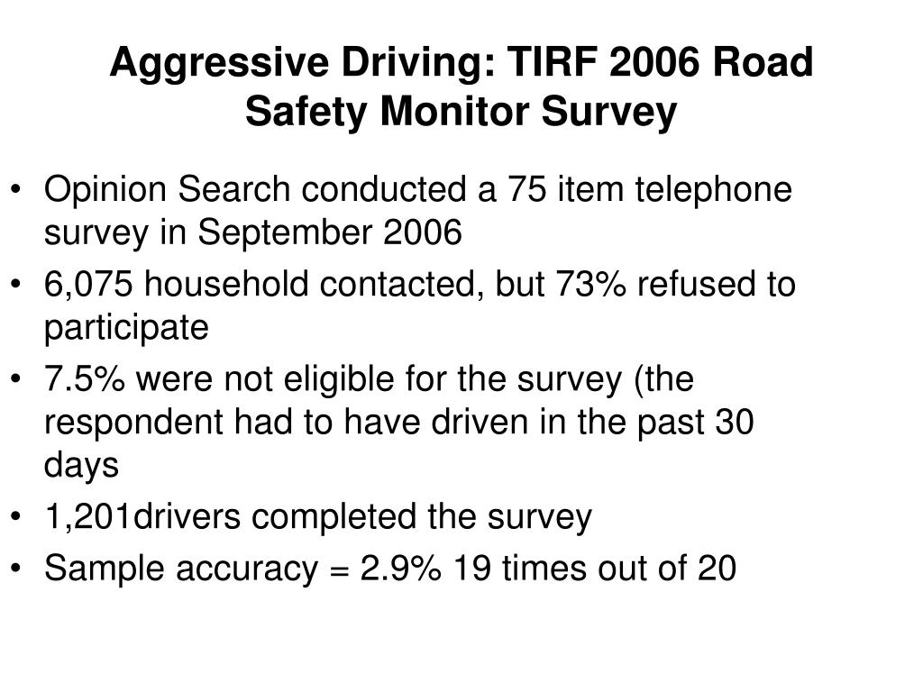 Opinion Search conducted a 75 item telephone survey in September 2006