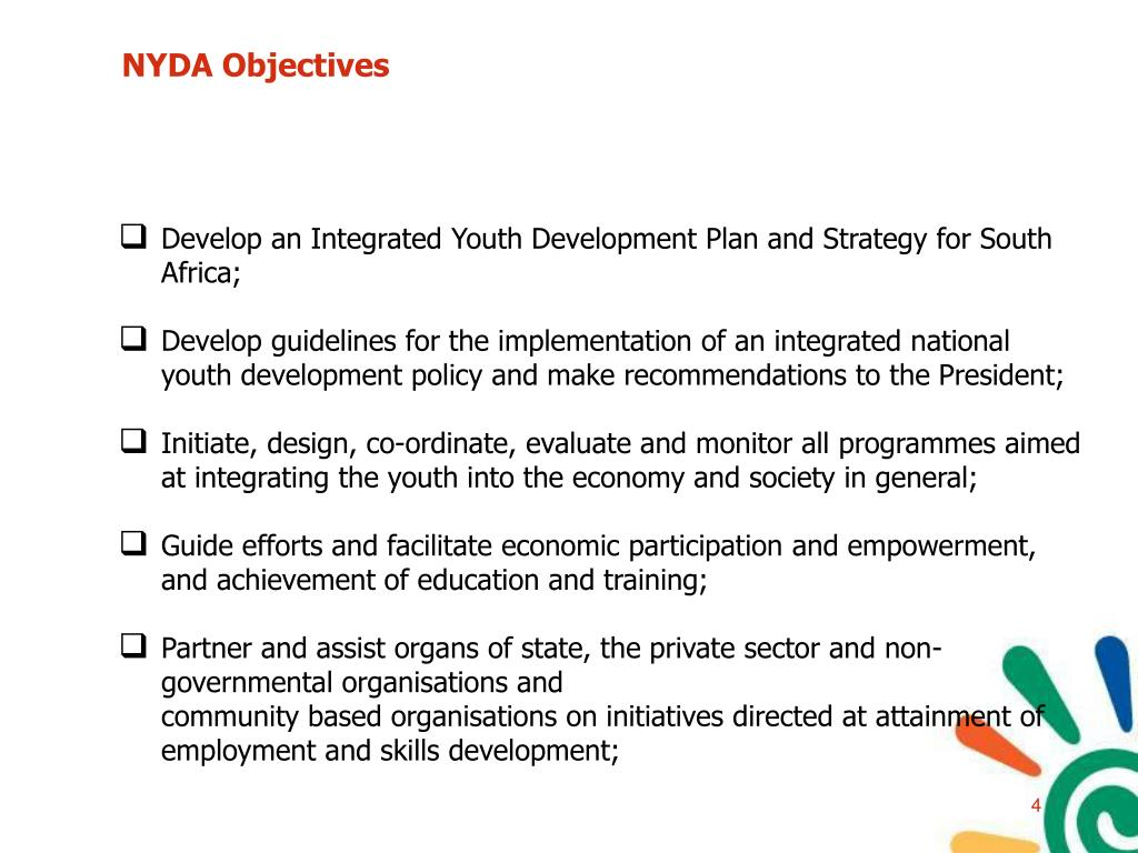 NYDA Objectives