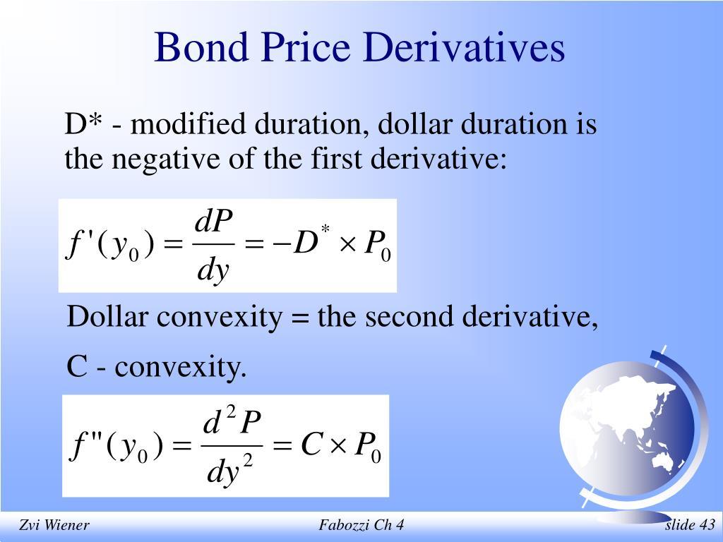 Bond Price Derivatives