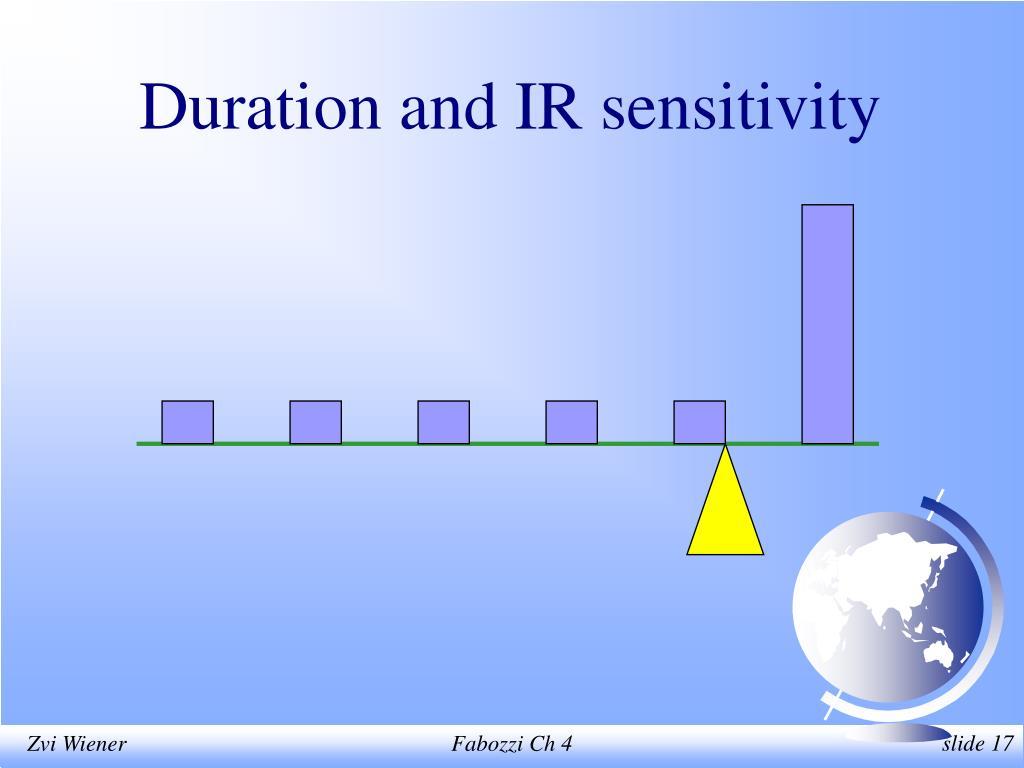 Duration and IR sensitivity