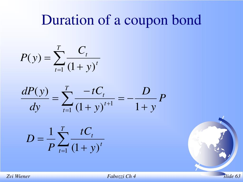 Duration of a coupon bond