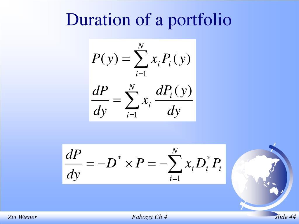 Duration of a portfolio