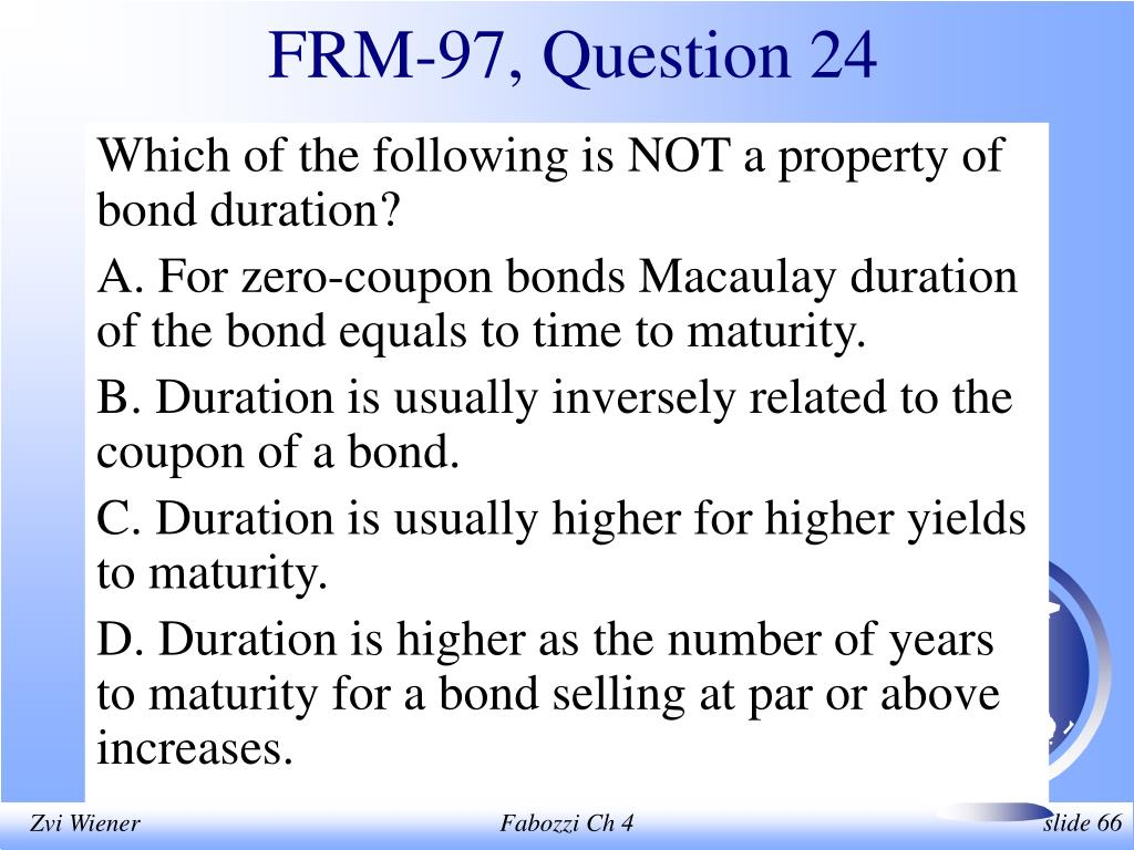 FRM-97, Question 24