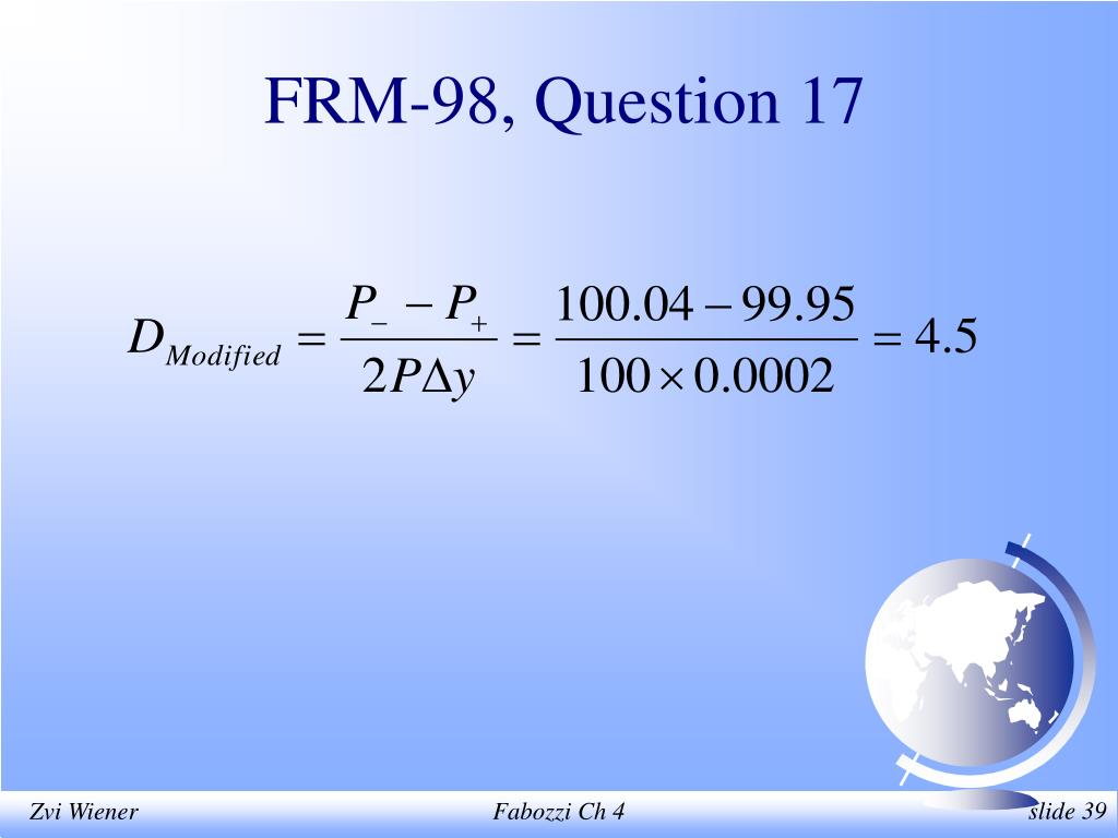 FRM-98, Question 17