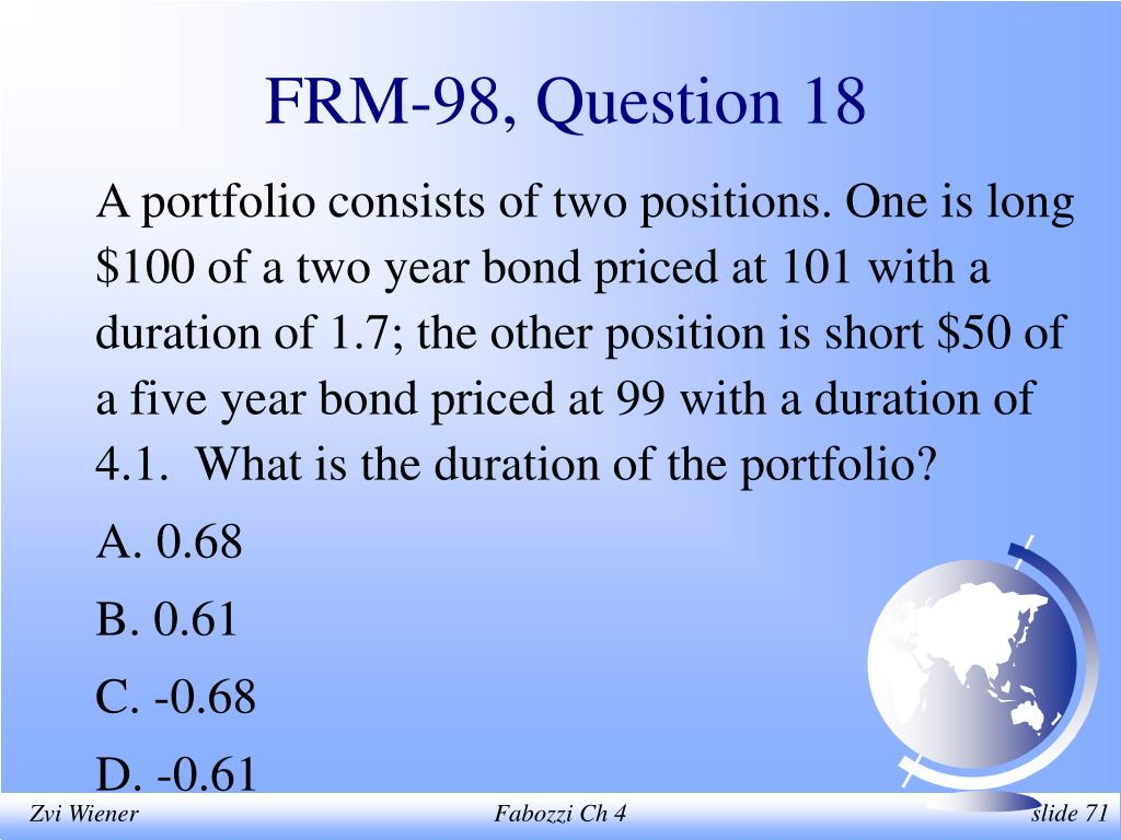 FRM-98, Question 18