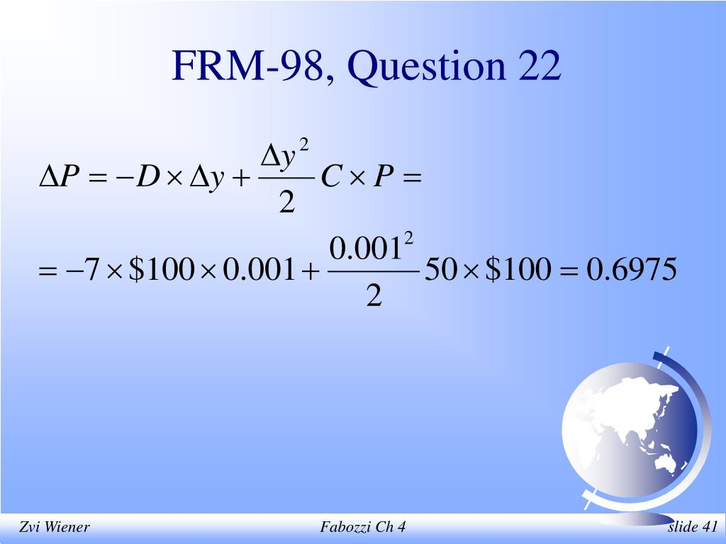 FRM-98, Question 22