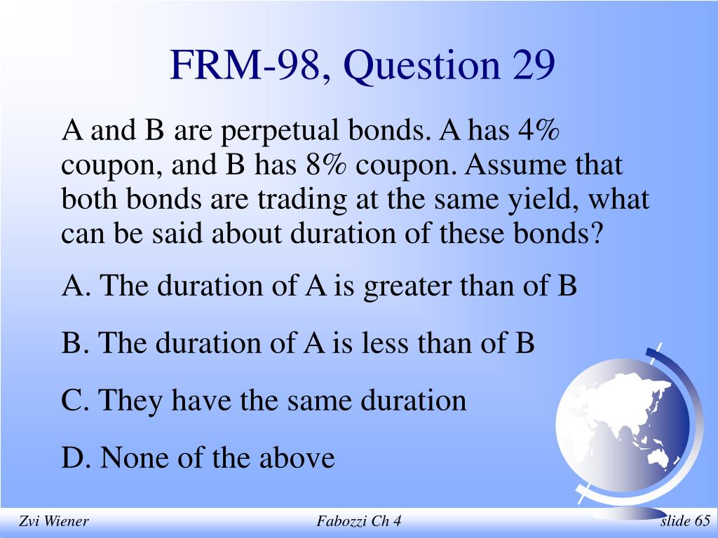 FRM-98, Question 29
