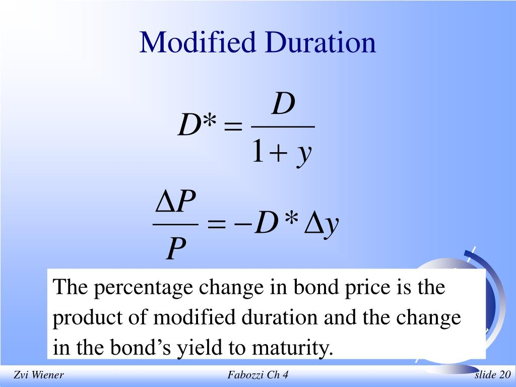 Modified Duration