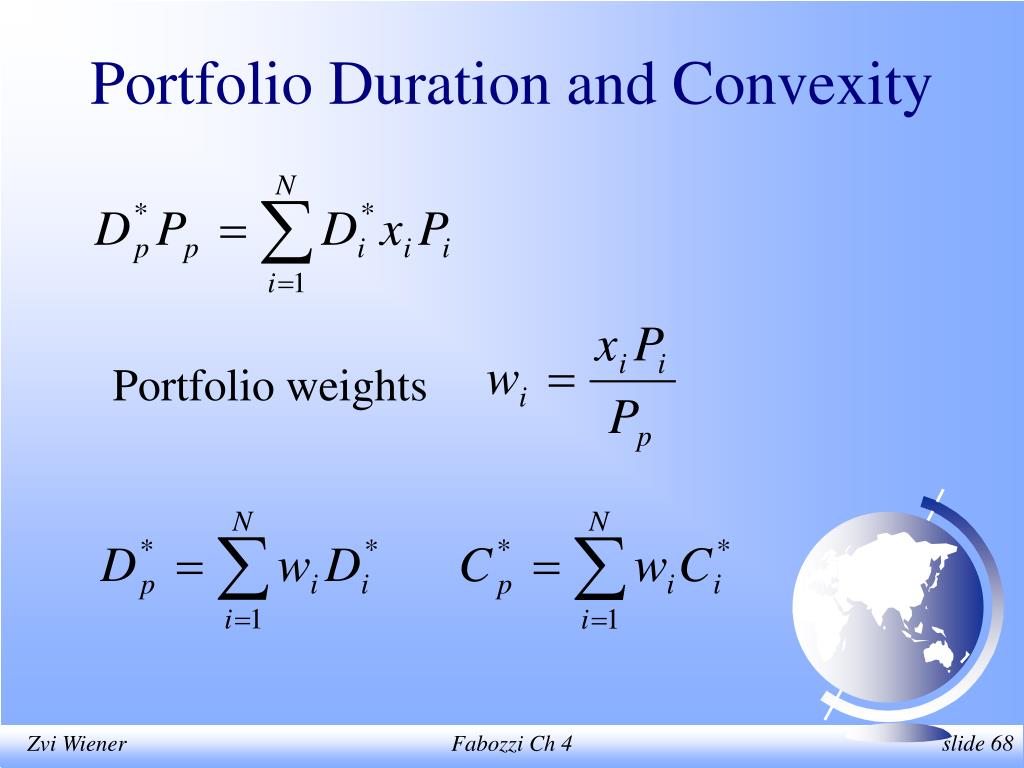 Portfolio Duration and Convexity