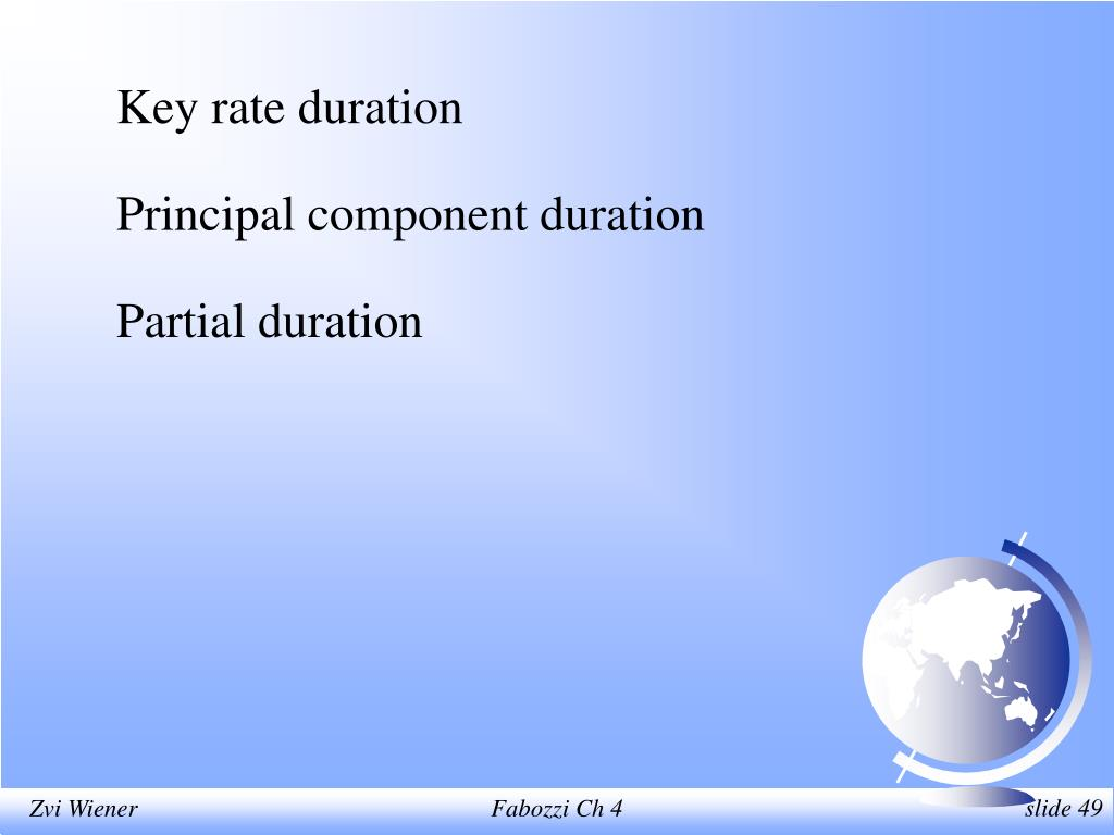Key rate duration