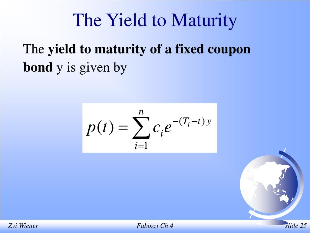 The Yield to Maturity