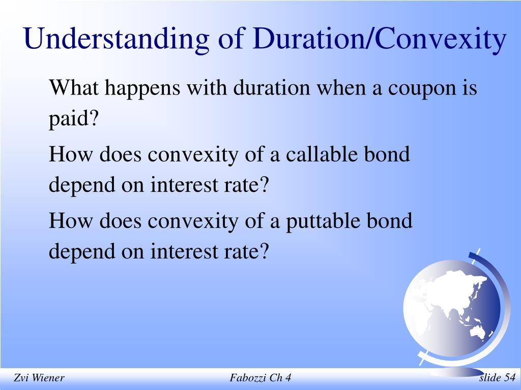 Understanding of Duration/Convexity