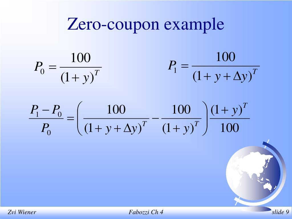 Zero-coupon example