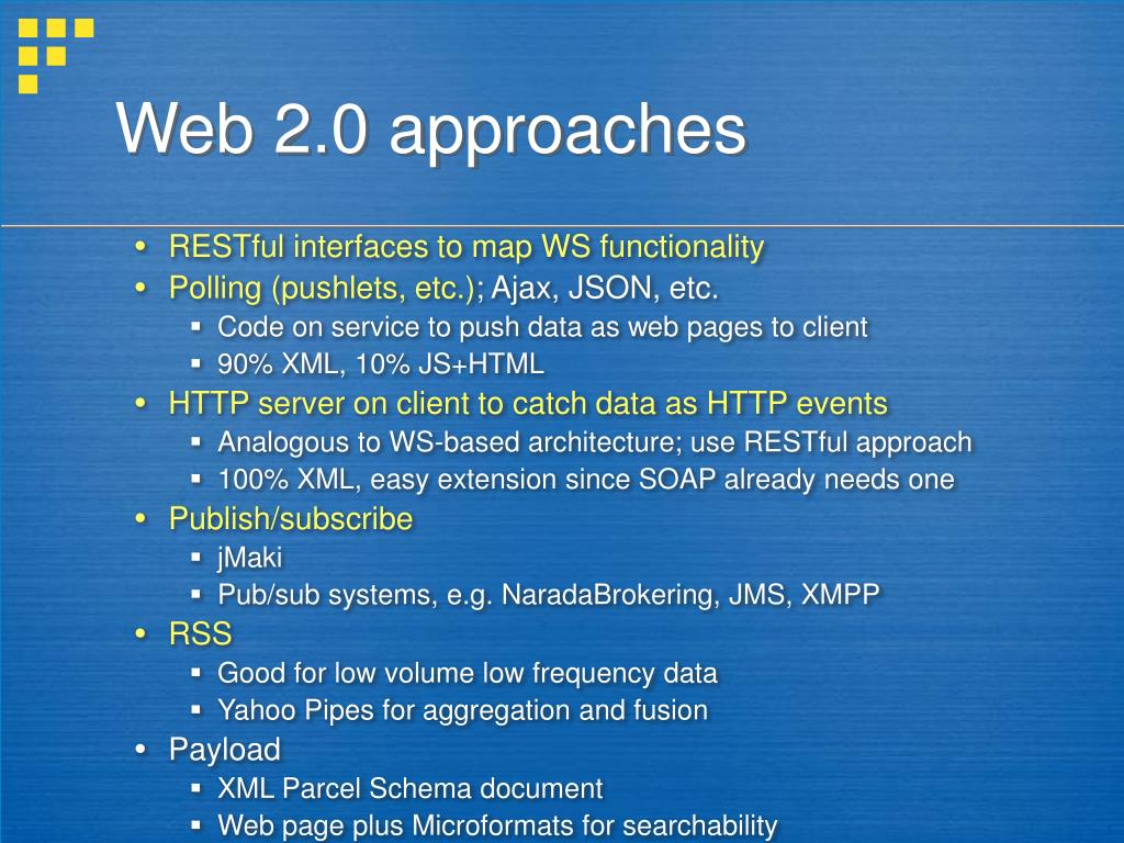 Web 2.0 approaches