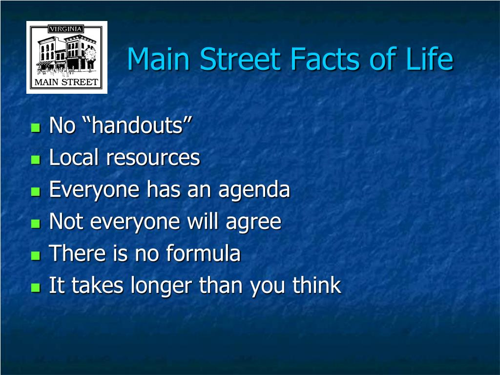 Main Street Facts of Life