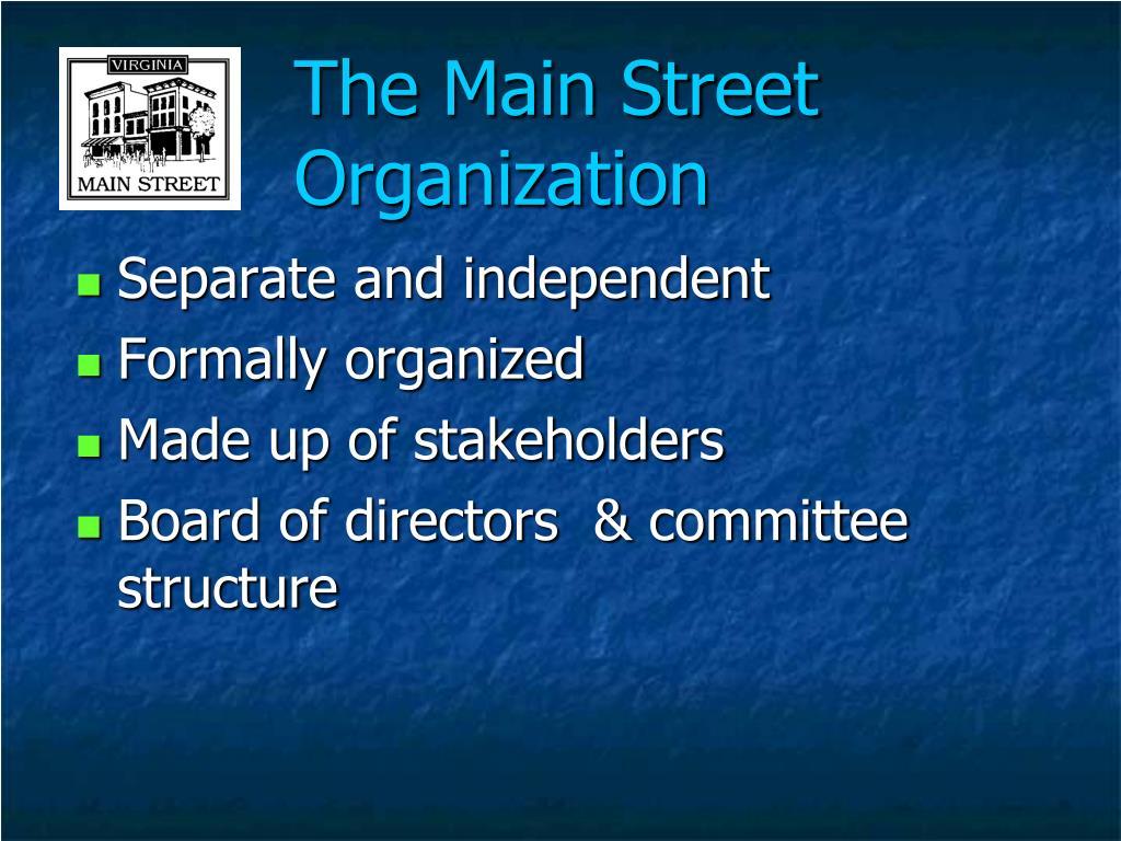 The Main Street Organization