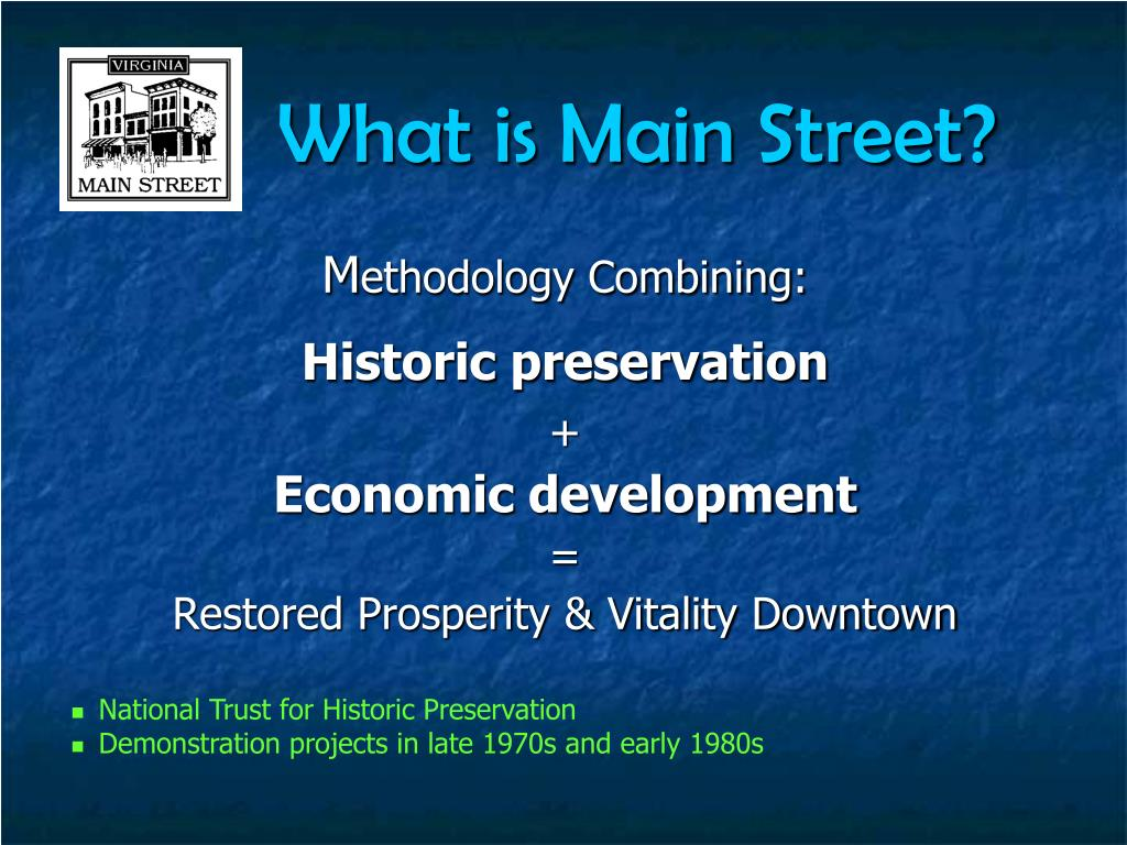 What is Main Street?