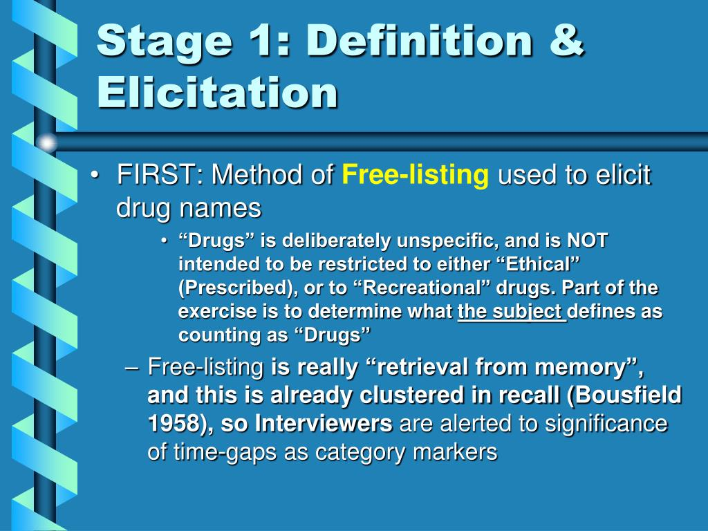 Stage 1: Definition & Elicitation