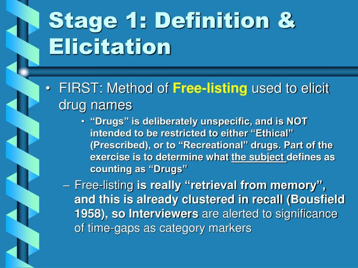 Stage 1 definition elicitation