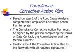 compliance corrective action plan