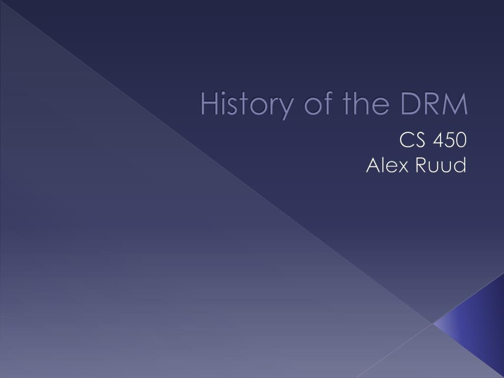 history of the drm