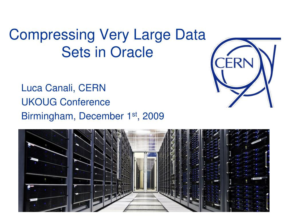 compressing very large data sets in oracle l.