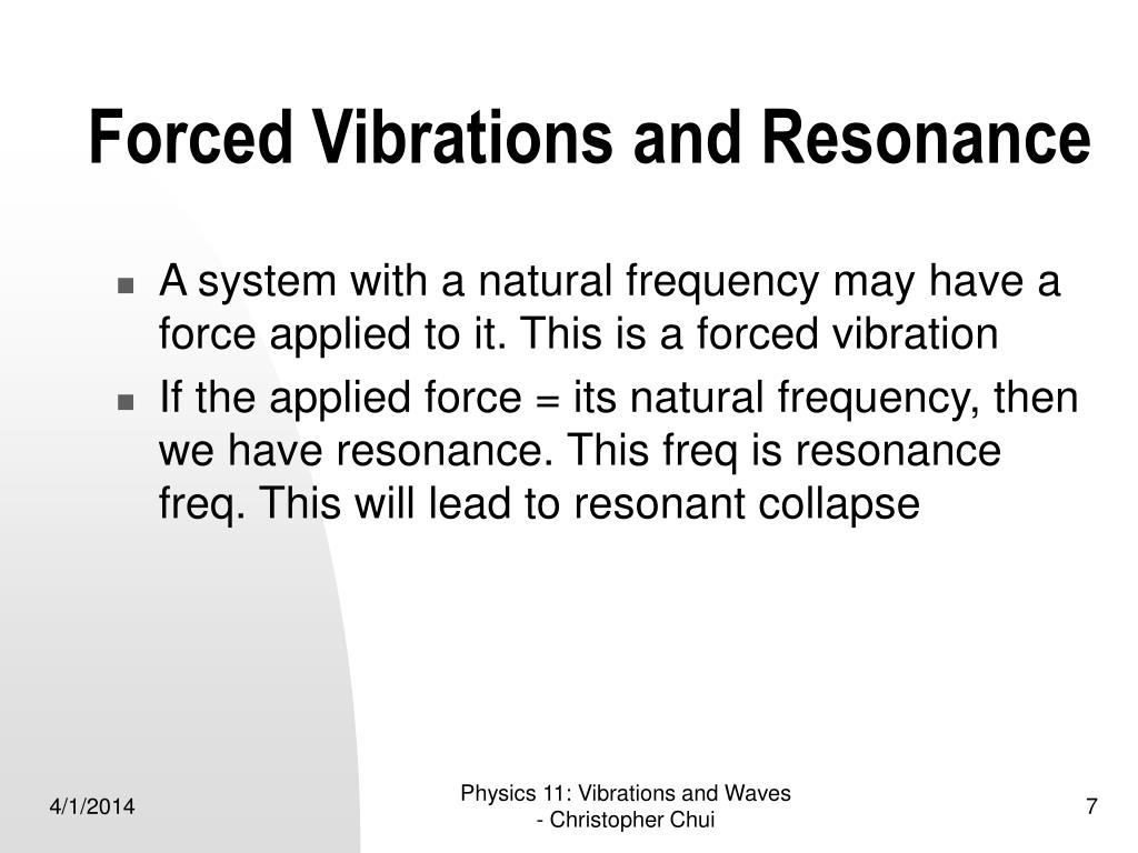 Forced Vibrations and Resonance