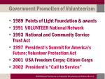 government promotion of volunteerism