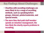 key findings about challenges