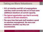 taking on more volunteers
